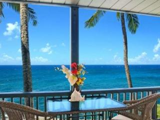 Free Economy Car* for Poipu Palms 204 - Second story 2 bedroom/2 bath oceanfront condo.