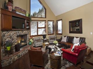 This Vail vacation rental home is located on the side of Vail Mountain at 1230 Westhaven Circle, and ski lift #20 from Cascade Resort goes overhead nearby.