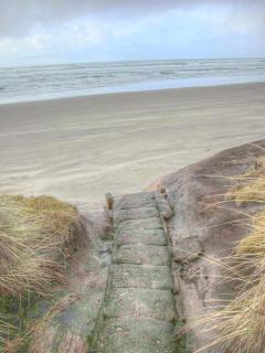 Use these one of a kind stone steps to reach the beach!