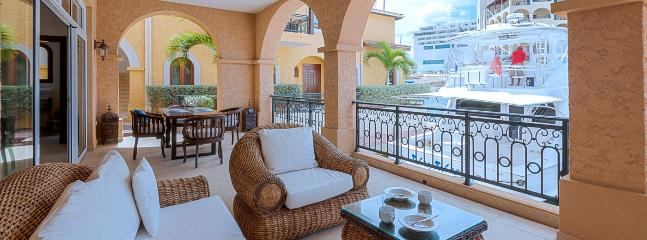 SPECIAL OFFER: St. Martin Villa 167 A Very Comfortable Waterfront Terrace With Dining And Lounging Areas.