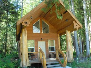 Log Cabins in the Great Bear Rainforest, Bella Coola