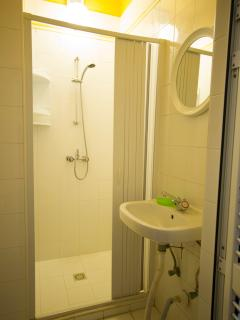 One of two identical bathrooms in the Yellow Apartment