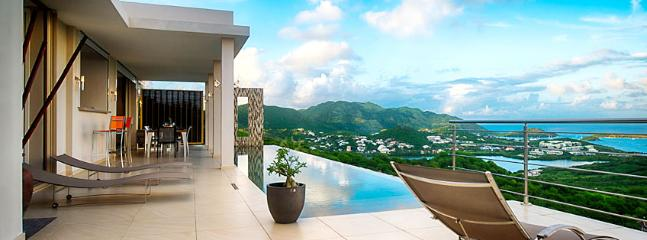 SPECIAL OFFER: St. Martin Villa 109 Brand New, Ultra Modern 3 Bedroom Villa Situated In The Heights Of Orient Bay With A Spectacular Sunrise Ocean View.