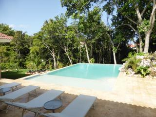 Exquisite taste awaits you with this custom styled villa.... huge private 16,300 gal pool and BBQ at your disposal. All bedrooms have private baths and cable TV.(760), Cabarete