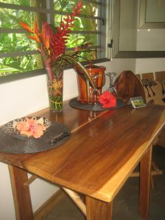 Locally made dining table for 2