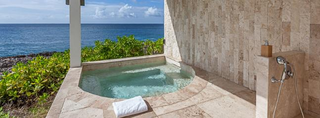 AVAILABLE CHRISTMAS & NEW YEARS: Anguilla Villa 127 The Master Bedroom Suite Has Its Own Private Terrace, An Outdoor Shower, And An Individual Hot Tub, All Overlooking The Atlantic Waters.