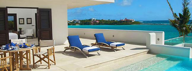 Villa Le Bleu SPECIAL OFFER: Anguilla Villa 6 Tropical Gardens With Two Swimming Pools And Small Natural Beach, Beach Pavilion, Tennis Court, Gym And Personal Cinema.