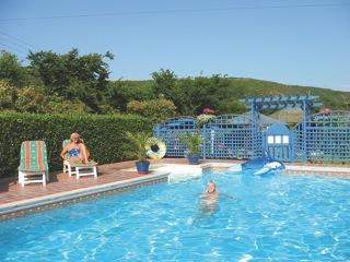 Our fab pool is now even better with the air dome cover keeping it nice and warm.
