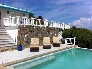Blue Skies at Great Cruz Bay, St. John - Short Stroll To Beach, Easy Access and Total Privacy
