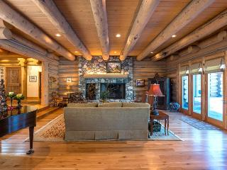Parkway Drive 213, Ketchum - Beautiful 8200 sq ft. Log home on river near YMCA.