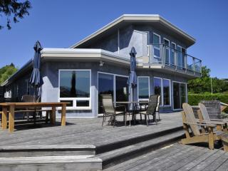The huge wrap around cedar deck is ideal for entertaining friends & family.