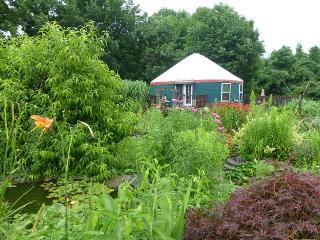 Elegant Yurt Nestled in Organic Garden--Sleeps 6, Ithaca