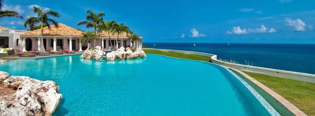 St. Martin Villa 21 Featured Is A Huge Shallow-entry Heated Pool With A Jacuzzi And A Very Large Deck For Sunbathing., Terres Basses