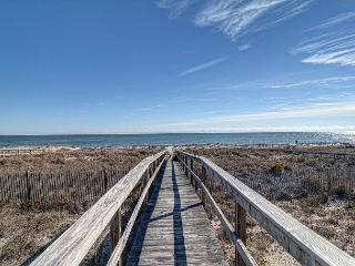 Ebbtide - Kure Beach oceanfront home with screened porch, private beach access