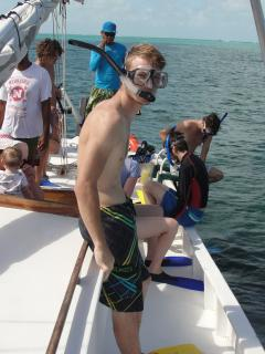 EZ Boy snorkel 'sailboat trip' out to the barrier reef.