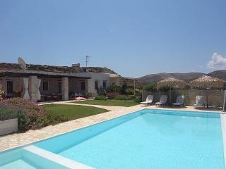 Marble stone Villa with private pool, great view, Naoussa