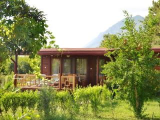 Charming bungalow near Antalya with terrace and mountain views, Cirali