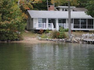 Sunny Waterfront Cottage with Guest House on Lake Winnipesaukee (SHI37Wf), Meredith