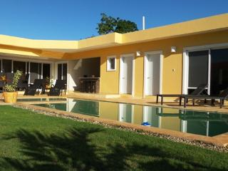 A piece of Italy in the middle of D.R. Enjoy this beautifully Italian designed villa. TV and Safe in all bedrooms, BBQ area, Pool with bar stools.(847), Cabarete