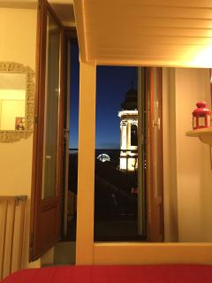 Church View and Balcony from Double Bed