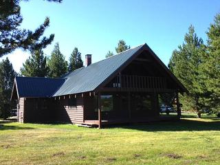 Shoshone Cabin is located on the Island Park Village golf course.