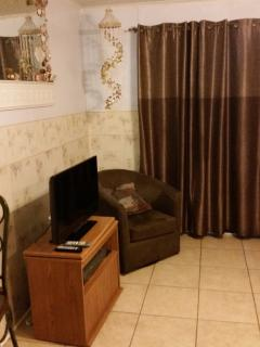 extra seating and tv