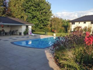 One-bedroom apartment in Vaud, near the banks of Lake Geneva, with fenced garden and pool, Founex