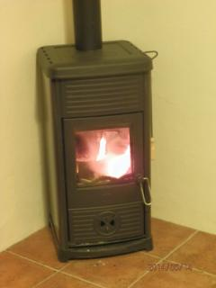 Wood stove for those cooler autumnal evenings