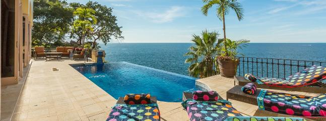 Villa Luna Creciente SPECIAL OFFER: Puerto Vallarta Villa 59 Perched Oceanfront Into The Hillside Of Puerto Vallartas South Shore.
