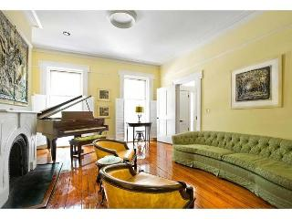 Parkside home featuring antique furnishings and a grand piano, Savannah