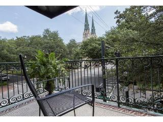 Spacious two bedroom with a private balcony overlooking Liberty Street, Savannah