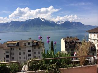 big terrasse zith panoramic lake view, Montreux