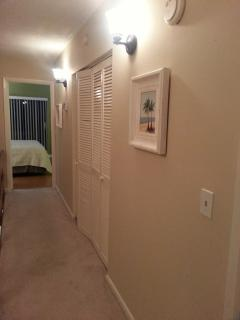 Upstairs hallway separating the Master & Guest suites