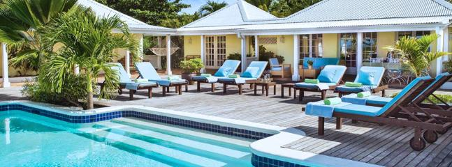 SPECIAL OFFER: St. Martin Villa 89 Features A Gorgeous View Of Baie Longue And A Large Pool-side Terrace With Two Gazebos, One For Dining And One For Lounging., Terres Basses