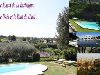 Uzes & Pont du Gard : 2 Gites +swimmingpool+river, Collias