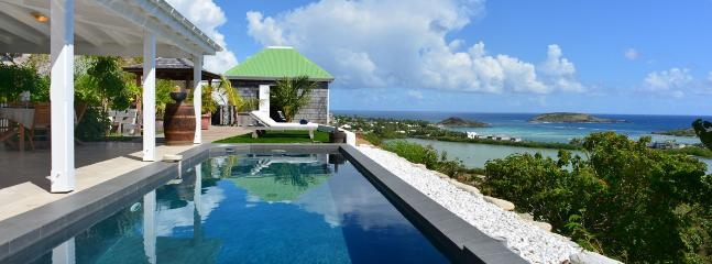 Villa Nilmath SPECIAL OFFER: St. Barths Villa 127 The Terrace And The Pool Overlook The Lagoon Of Grand Cul De Sac., Grand Cul-de-Sac
