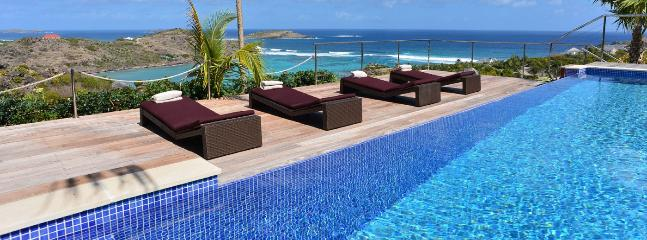AVAILABLE CHRISTMAS & NEW YEARS: St. Barths Villa 152 A Magnificent View On The Ocean, Surrounded With Greenery.
