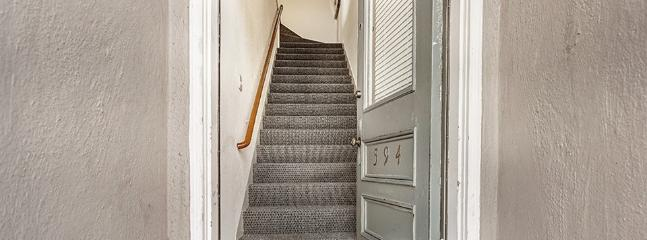 Staircase when you first enter the home.