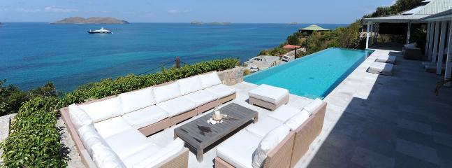 Villa Ella SPECIAL OFFER: St. Barths Villa 156 Hung Above The Sea On The Cliff; Offers An Extraordinary Panoramic View.