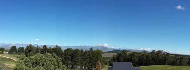 View from Bergview deck, perfect place for sundowners
