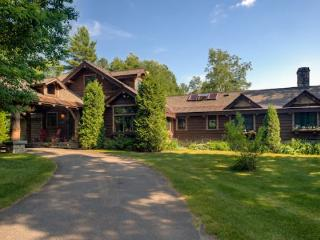 Spacious Lake Placid Adirondack Camp offering privacy and spectacular views of the Adirondack Mountains.