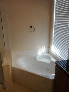 Jacuzzi tub in master bathroom
