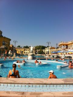 Szechenyi baths - a fun day lazing out in the sun