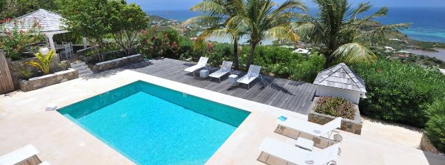 AVAILABLE CHRISTMAS & NEW YEARS: St. Barths Villa 233 A Superb View On The Lagoon Of Grand Cul De Sac, And The Bay Of Petit Cul De Sac, And Toiny.
