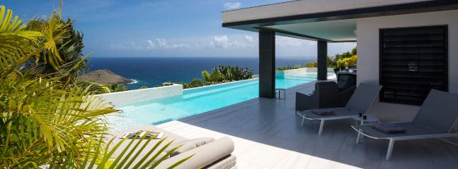 Villa Rose Dog SPECIAL OFFER: St. Barths Villa 219 This Very Nice Brand-new Villa Overlooks The Ocean And The Toiny Bay., Grand Fond