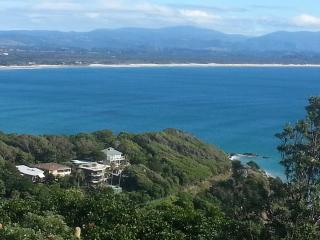 Views over Wategos Beach to Byron Bay Lighthouse