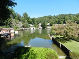 Lakefront with 2 wood burning fireplaces & canoe., Lake Lure