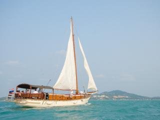 Dream Cruise on a 63ft Large Wooden Boat, Ko Samui