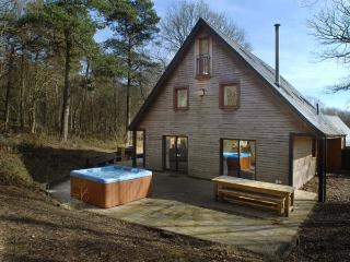 STANTON, family friendly, luxury holiday cottage, with hot tub in Ramshorn Wood Near Alton Towers, Ref 904180, Oakamoor