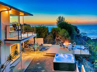 Sweeping ocean, cove, and sunset views with private spa and deck, La Jolla